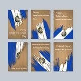 República del EL Salvador Patriotic Cards para stock de ilustración