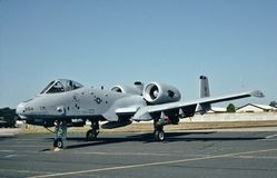 República A-10A del U.S.A.F. Fairchild lista para su missiom siguiente Foto de archivo libre de regalías