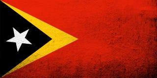 A república Democrática da bandeira nacional de Timor Leste Timor-Leste Fundo do Grunge foto de stock