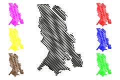 República do vetor do mapa de Carélia Ilustração Royalty Free