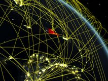 República Dominicana del espacio con la red libre illustration