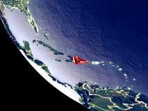 República Dominicana do espaço na terra imagens de stock royalty free
