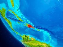 República Dominicana no globo do espaço Imagens de Stock Royalty Free
