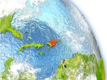 República Dominicana no modelo da terra ilustração stock