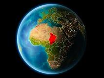 República eo Tchad por la tarde Foto de archivo
