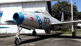 República F-84G Thunderjet do lutador-bombardeiro do turbojato video estoque