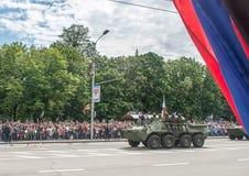 República popular de Donetsk Victory Day Parade 2016, el 9 de mayo Imágenes de archivo libres de regalías
