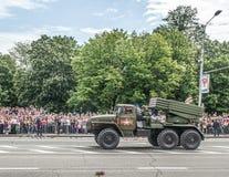 República popular de Donetsk Victory Day Parade 2016, el 9 de mayo Foto de archivo
