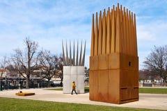 REPÚBLICA, PRAGA - 14 DE MARZO DE 2016: Monumento a Jan Palach, terraplén de Alés, la vieja UNESCO de la ciudad, Praga, República Fotografía de archivo