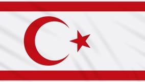 República turca da bandeira do norte de Chipre, laço ilustração do vetor
