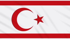 República turca de la bandera septentrional de Chipre, lazo ilustración del vector