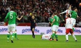 欧元2016年具有资格的巡回赛波兰对Rep 爱尔兰 免版税库存图片