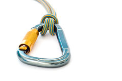 rep för carabinerklättringutrustning royaltyfri foto