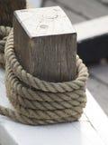 Rep för seglingskepp Arkivfoton