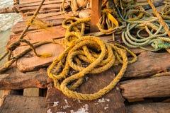 Rep från fisknät Royaltyfri Foto