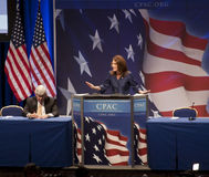 Rep. Michele Bachmann at CPAC 2011 Royalty Free Stock Photos