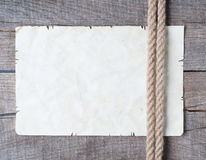 Rep och forntida papper för gammal tappning Arkivfoton