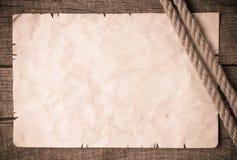 Rep och forntida papper för gammal tappning Arkivbild
