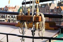 Rep på en segelbåt i Holland Royaltyfria Bilder