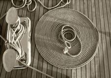 Rep på en yacht Royaltyfria Bilder