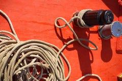 Rep på fartyget Arkivbild