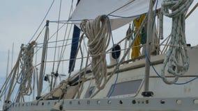 Rep på fartyget stock video