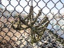 Rep som binds på staketet Royaltyfri Bild