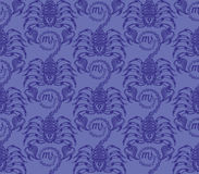 Repaint seamless pattern: blue scorpions. Easy to recolor pattern Royalty Free Illustration