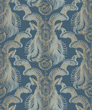 Repaint seamless pattern: Capricorn. Repaint seamless pattern, blue background Vector Illustration