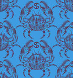 Repaint seamless pattern: crab. Easy to recolor pattern Stock Illustration