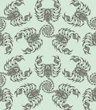 Repaint seamless pattern: scorpions. Easy to recolor pattern Royalty Free Illustration