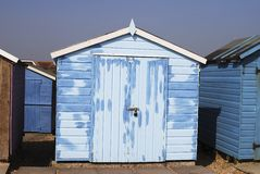 Repainted Beach hut at Ferring. UK Sussex. England Royalty Free Stock Images