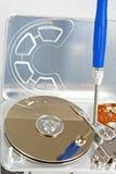 Repair. Ing an old hard disk Royalty Free Stock Image