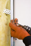 Repair. Repaining tools, screw, wall and instalation Stock Images