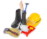 Repair accessories on white Stock Photography