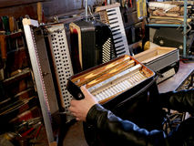 Repair accordion Royalty Free Stock Image