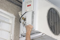 Repair air condition Stock Photo