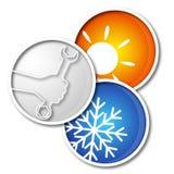 Repair air conditioner symbol Royalty Free Stock Photo