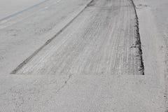 Repair asphalt construction street Royalty Free Stock Image