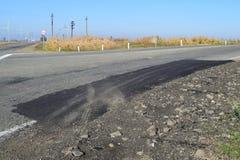 Repair of an asphalt road surfacing Royalty Free Stock Photography