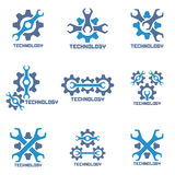 Repair auto service icons. Technology logo. Stock Image