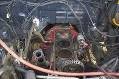 Repair of the automobile engine Stock Photo