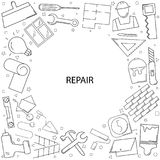 Repair background from line icon. Linear  pattern Stock Photos