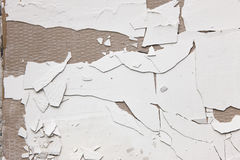 Repair background of old crack white stucco wall Stock Images