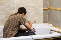 Repair of bathroom Stock Photography