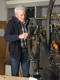 Repair the bicycle Royalty Free Stock Image