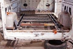 Repair bottom of old rush truck Stock Photos