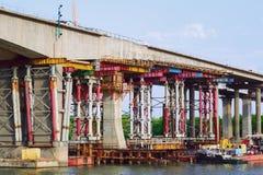 Repair of bridge Royalty Free Stock Photography