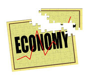 Repair broken economy puzzle - concept Royalty Free Stock Photography