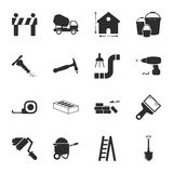 Repair, building 16 icons universal set for web and mobile. Flat Vector Illustration